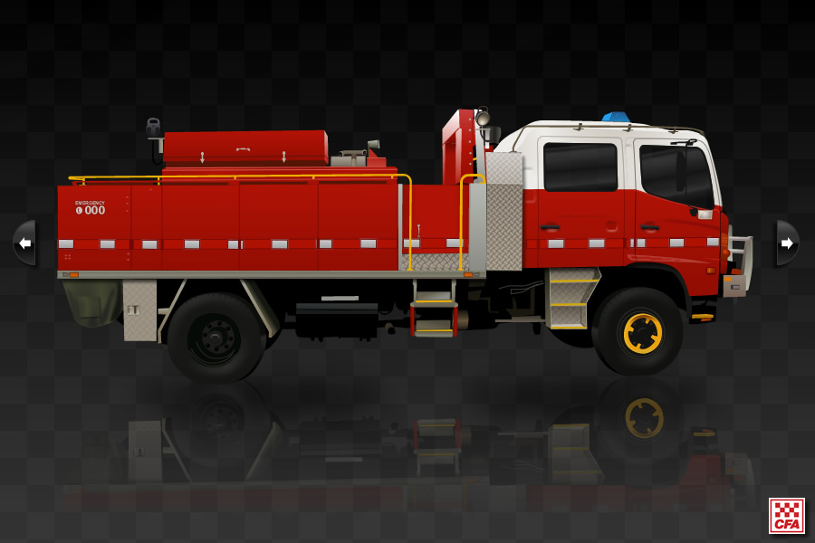 Country Fire Authority truck interactive