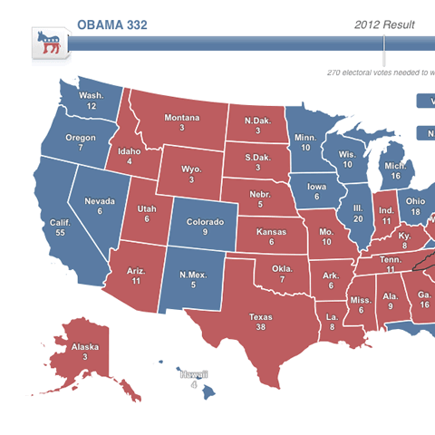 2012 US Presidential election map